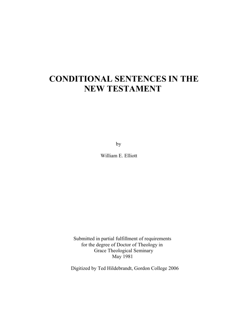 40bf98055716 CONDITIONAL SENTENCES IN THE