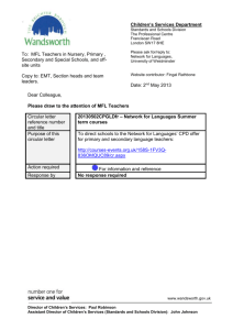 Network for Languages Summer term courses circular letter