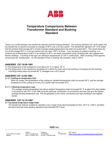 Temperature Comparisons Between Transformer Standard and