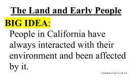 The Land and Early People