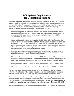 DBI Updates Requirements - Department of Building Inspection