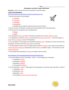 Atmosphere And Heat Transfer Web Quest
