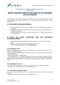 Safety instructions in the event of an accident