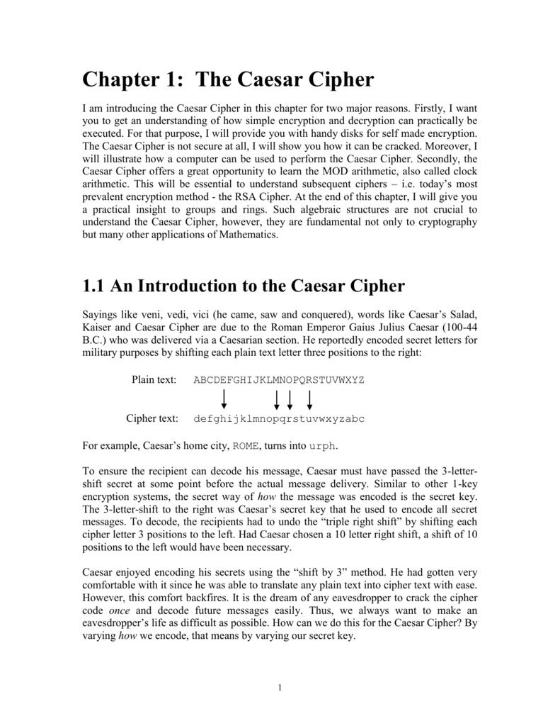 Caesar`s Cipher