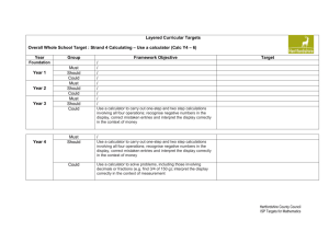 Layered Curricular Targets Use a Calculator
