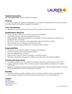 Assistive Technologist Position Description