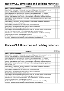 C1.2 Limestone and building materials