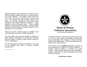 S&WCA Application - Smith & Wesson Collectors Association