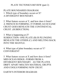 plate tectonics review part 2 answers