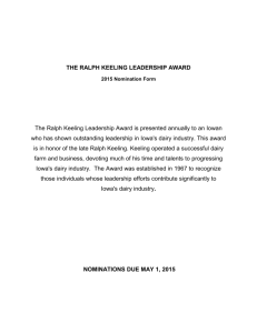 Ralph Keeling Award Nomination Form