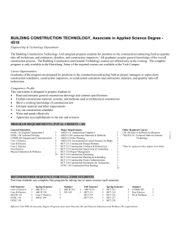 BUILDING CONSTRUCTION TECHNOLOGY, Associate in Applied