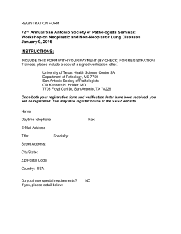 REGISTRATION FORM - San Antonio Society of Pathologists
