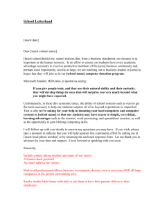 Sample Sponsorship Request Letter