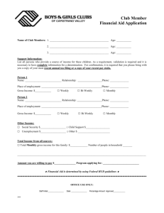 Membership Application Scholarship Form