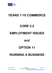 Employment issues and running a business