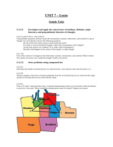 Geometry Unit 7 - Locus Sample Tasks