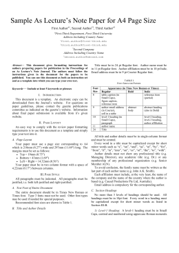 IEEE Paper Word Template in US Letter Page Size (V3)