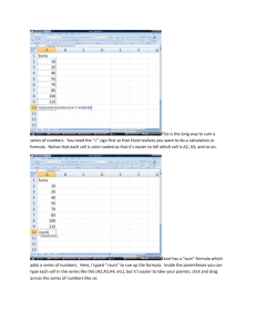 Sums, Payback Method, Compounding and Discounting in Excel