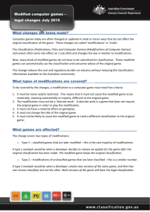 National Classification Database Fact Sheet