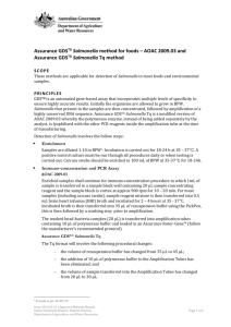 Assurance GDSTD Salmonella method for foods – AOAC 2009.03