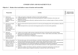 CONSERVATION AND MANAGEMENT PLAN
