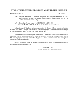office of the transport commissioner: andhra pradesh: hyderabad