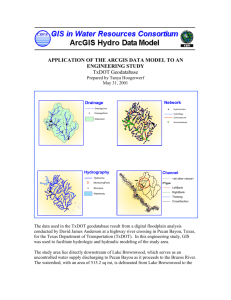 Application of the ArcGIS Data Model to an Engineering Study