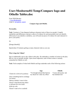 User:Mosborne01/Temp/Compare Iago and Othello Tables