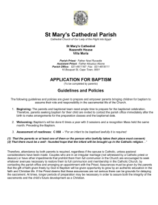 Baptism Application Information