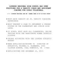 lourdes regional high school has open positions for a varsity coach
