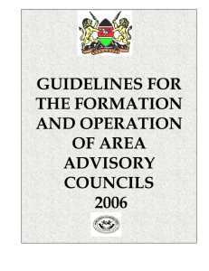 Guideline on formation of area advisory councils for Kenya