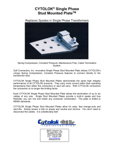 CYTOLOK® Single Phase - Gulf Connectors Inc.