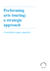 Performing arts touring: a strategic approach