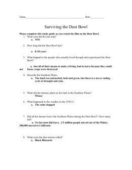 Dust Bowl Study Guide