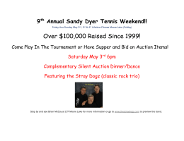 9th Annual Sandy Dyer Tennis Weekend