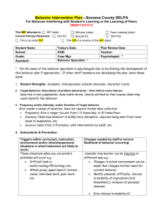 Behavior Intervention Plan with cues (revised 9/11/13)