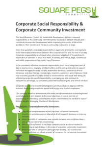CSR and Corporate Community Investment