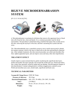 MICRODERMABRASION SYSTEM HS-100