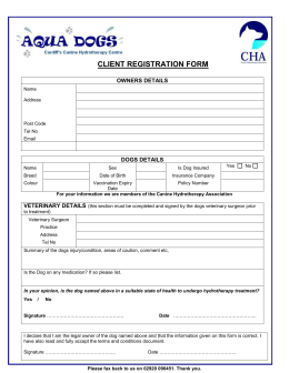 CLIENT TREATMENT FORM