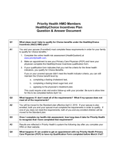 Priority Health HMO