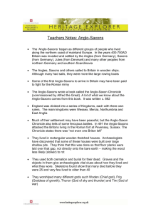 Teachers Notes: Anglo Saxons