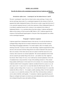 The Cosmological Argument Copleston And Examples Of Ao Essays On The Cosmological Argument Good High School Essay Examples also Buy Reports School Reports Online  English Essay Com