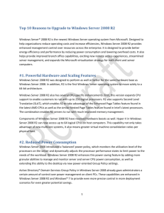 Top 10 Reasons to Upgrade to Windows Server