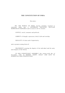 THE CONSTITUTION OF INDIA - Ministry of Law and Justice