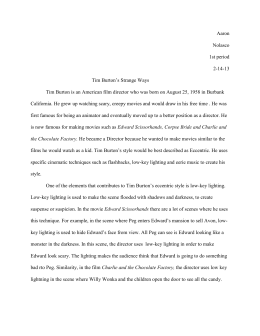 Essay On My Mother In English Tim Burtons Cinematic Stylex Science And Technology Essay also Sample Essays For High School Students Tim Burton Style Analysis Film Essay Position Paper Essay