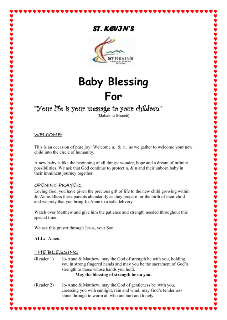 Baby Blessing Ritual