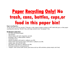 Paper Recycling Only