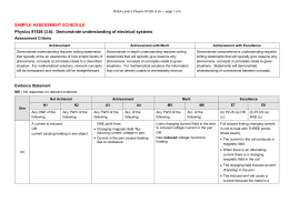 91526 Sample Assessment Schedule