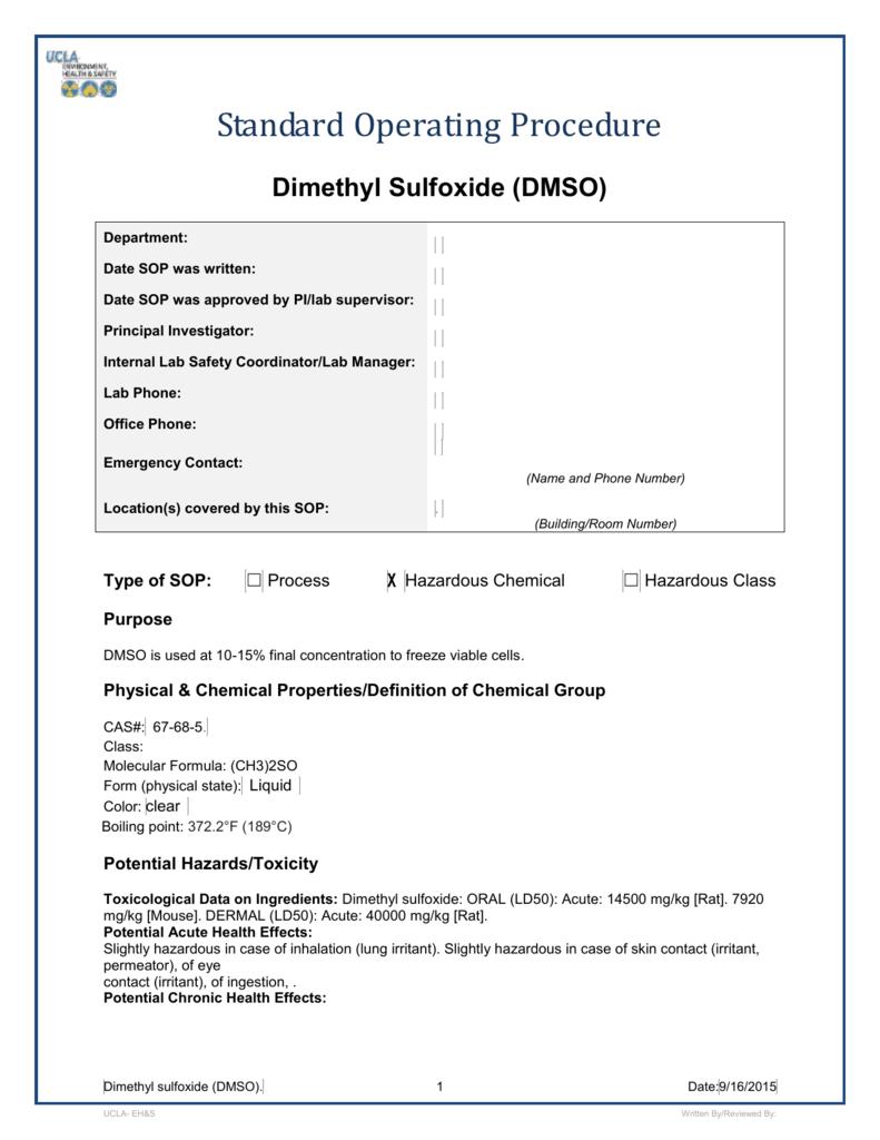 Dimethyl sulfoxide - UCLA David Geffen School of Medicine
