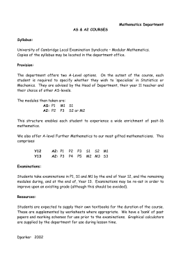Mathematics Department Handbook